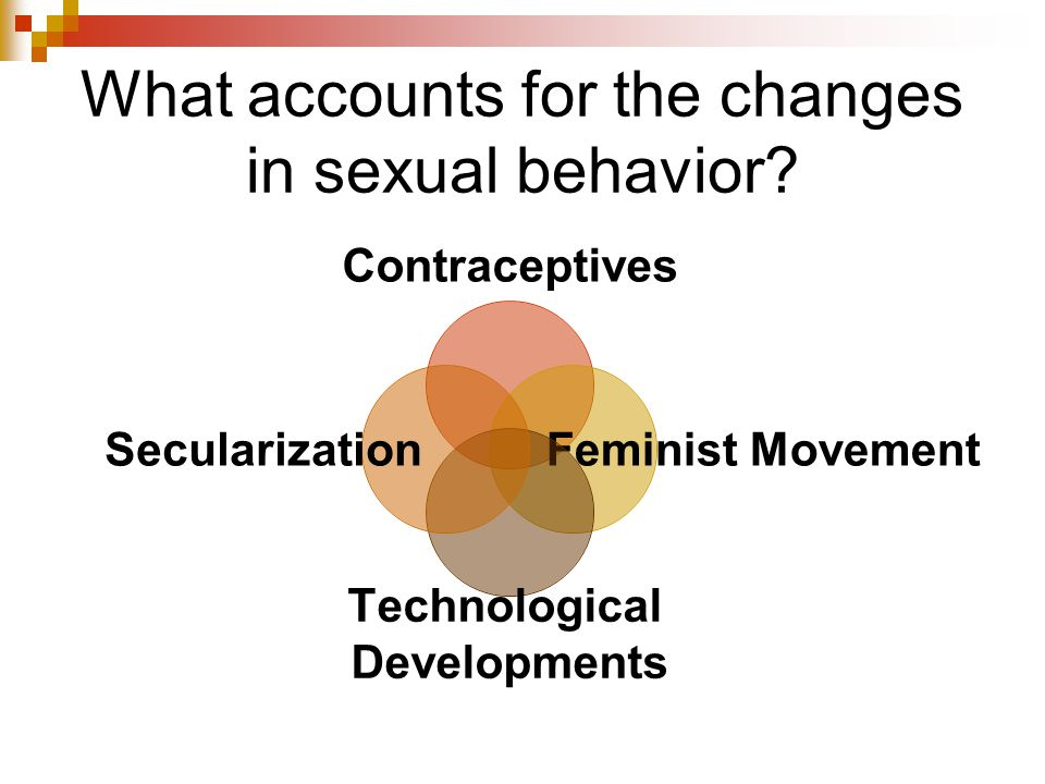 What accounts for the changes in sexual behavior.