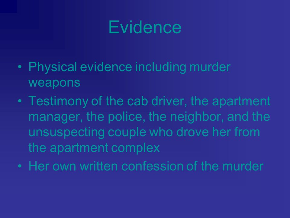 Sentence Evaded law enforcement for three months Arrested on February 17, 1997 Sentenced to death on March 27, 1998
