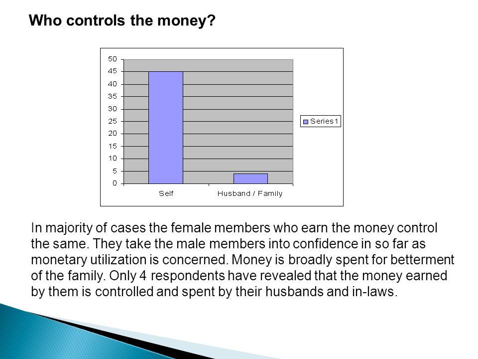 Who controls the money.