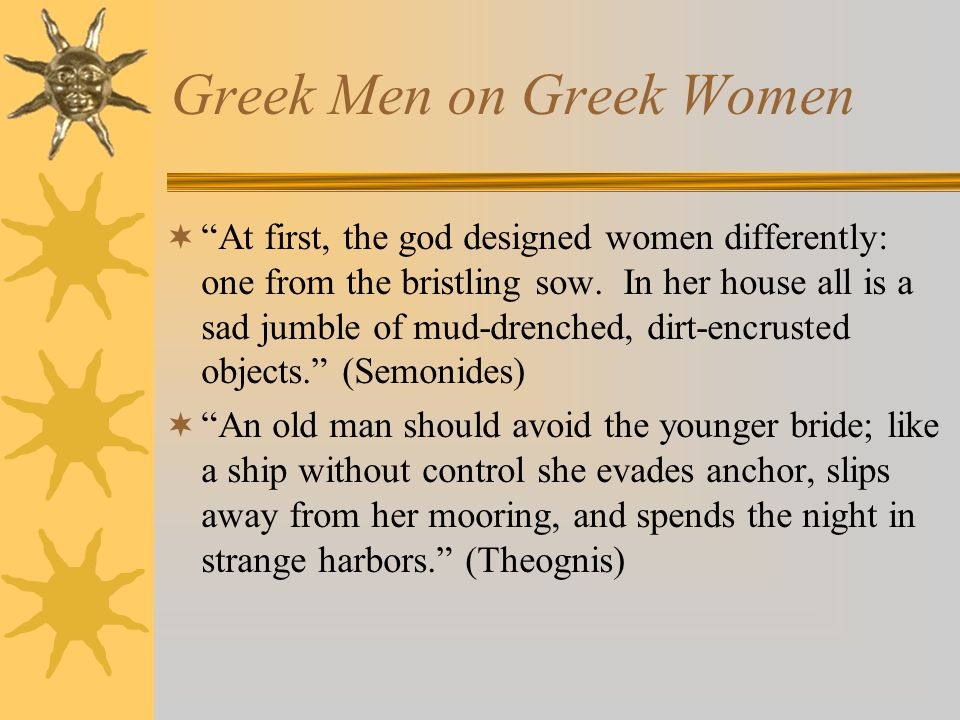Three kinds of Women  Spartan  Athenian  Prostitutes & Companions