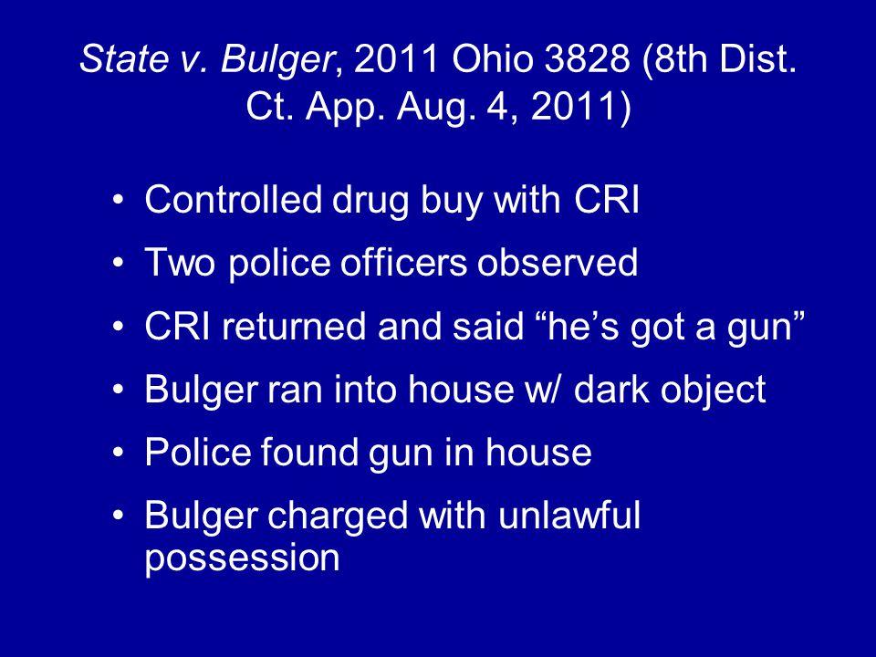 State v. Bulger, 2011 Ohio 3828 (8th Dist. Ct. App.