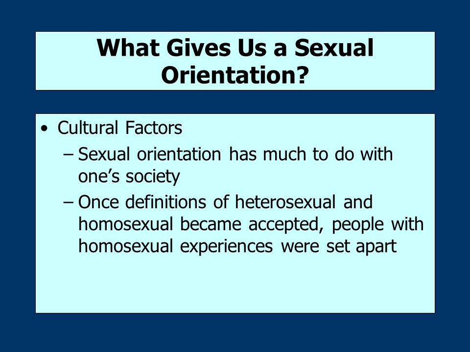 What Gives Us a Sexual Orientation.