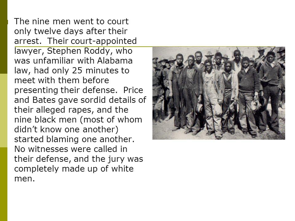  All nine men were found guilty.