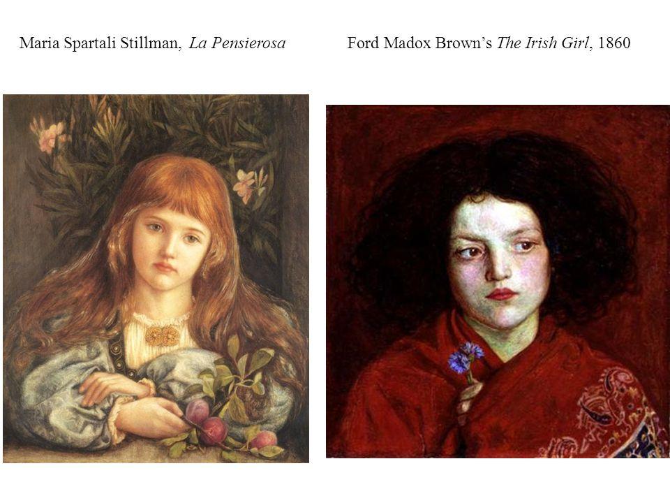 Maria Spartali Stillman, La Pensierosa Ford Madox Brown's The Irish Girl, 1860