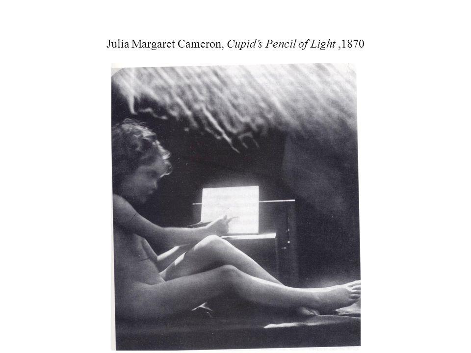 Julia Margaret Cameron, Cupid's Pencil of Light,1870