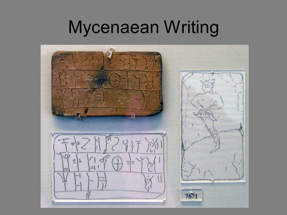 Mycenaean Writing