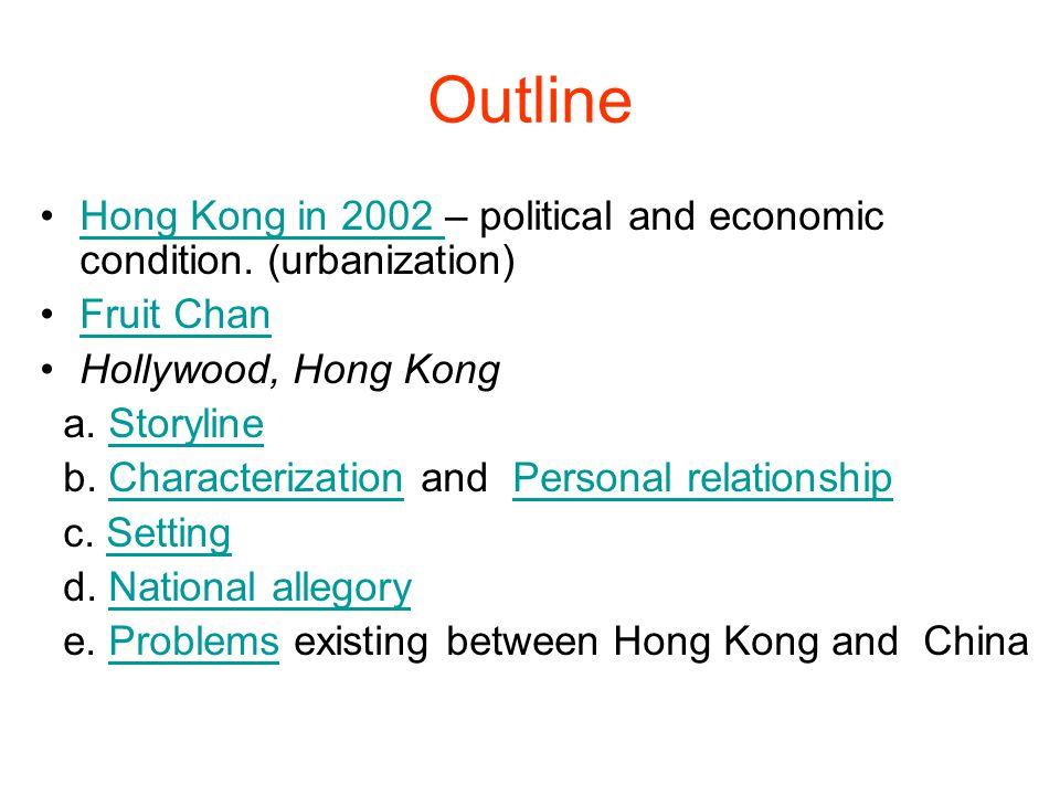 Hong Kong in 2002 Economic Crisis import and export between China and U.S.
