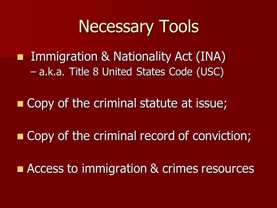 Categorical Analysis If statute not categorical match, then conviction does not fall within the immigration provision.