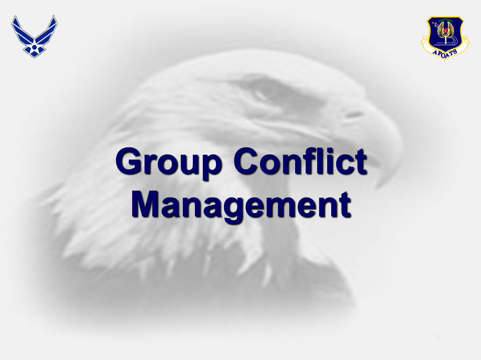 1 Group Conflict Management