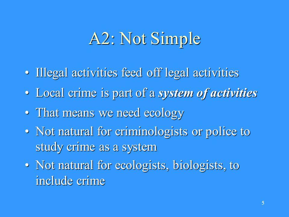 6 A3: Not Metaphorical Life science, as you probably see it Life science, as I see it Criminology a.