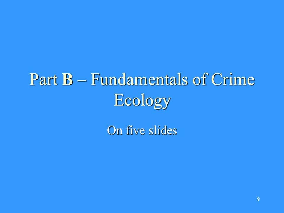 9 Part B – Fundamentals of Crime Ecology On five slides