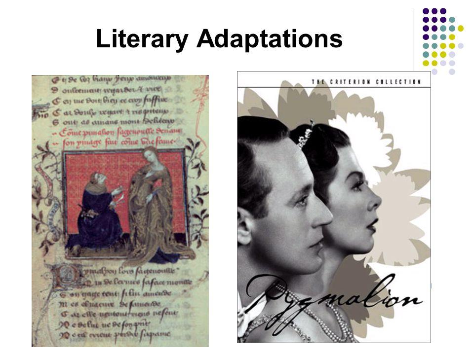 Literary Adaptations Le Roman de la Rose (poem) By Guillaume de Lorris  13 th century French vernacular poem  In this version the sculptor attempts