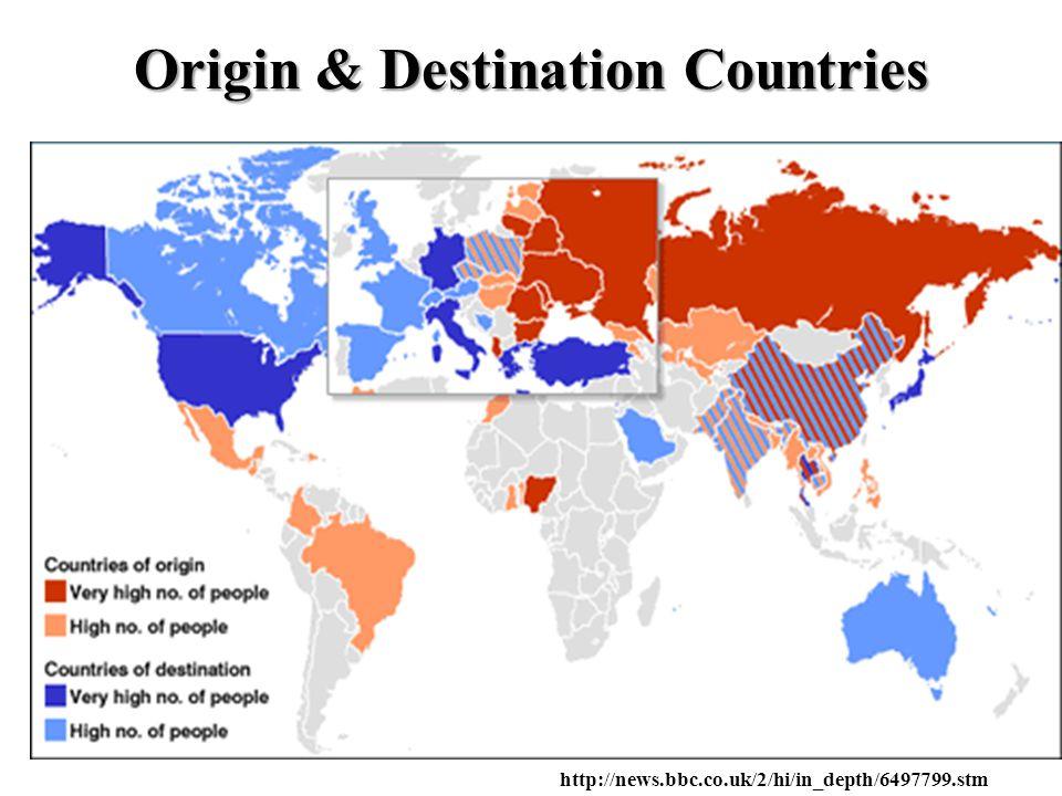 Origin & Destination Countries http://news.bbc.co.uk/2/hi/in_depth/6497799.stm