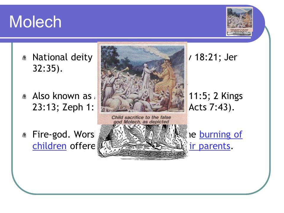 Worship of other gods