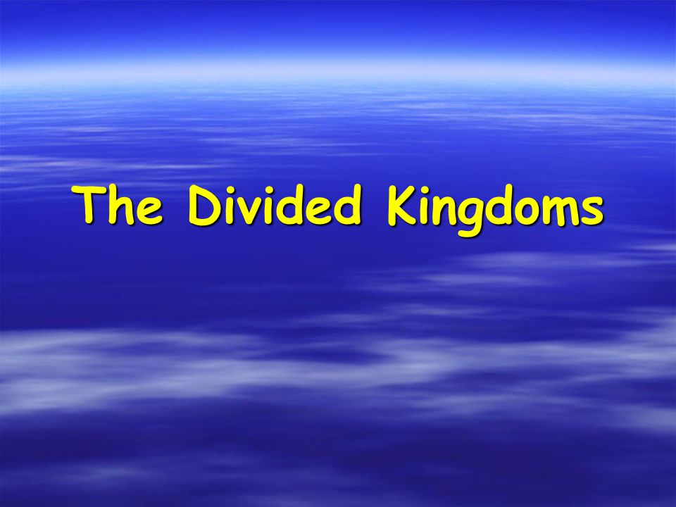 Recap Solomon's sins in his old age brought judgment from God – division of kingdom into two.