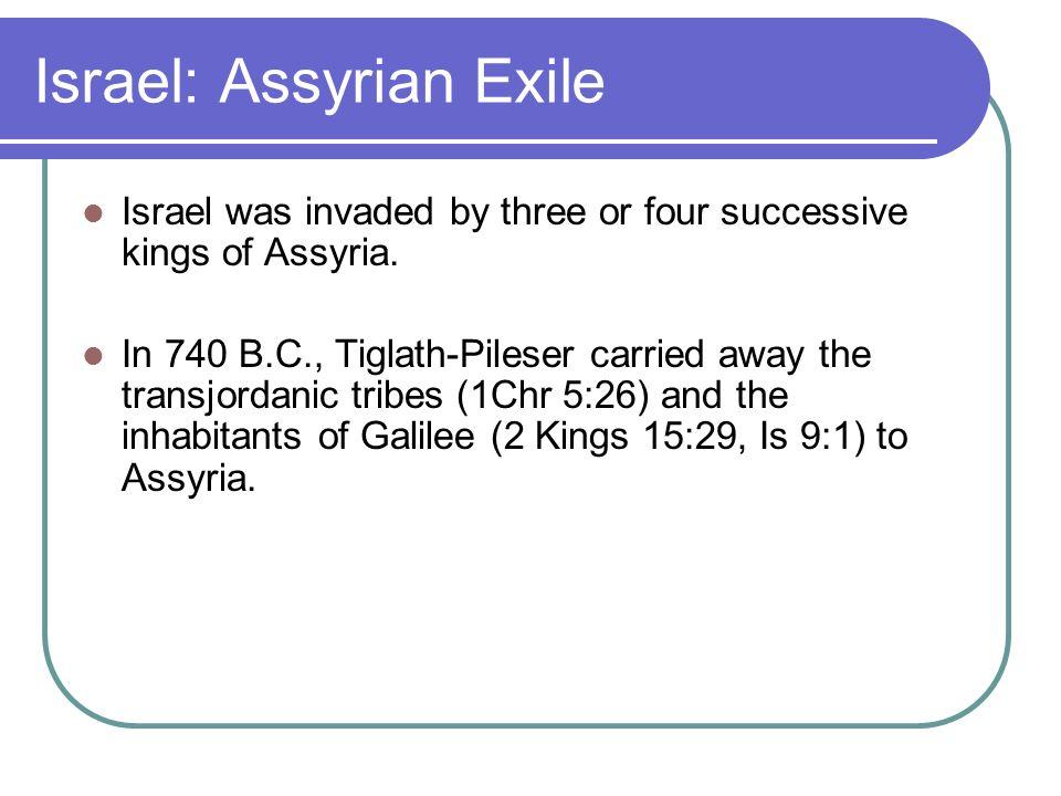 Israel - Assyrian Exile