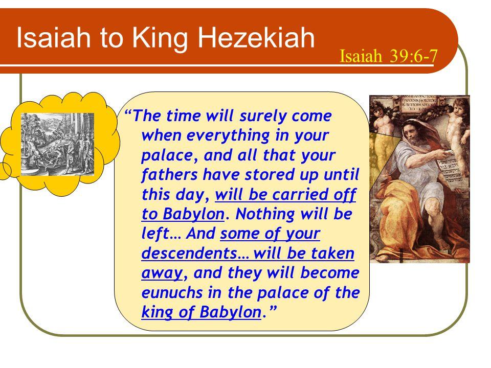 God's Forewarnings to Kings of Judah