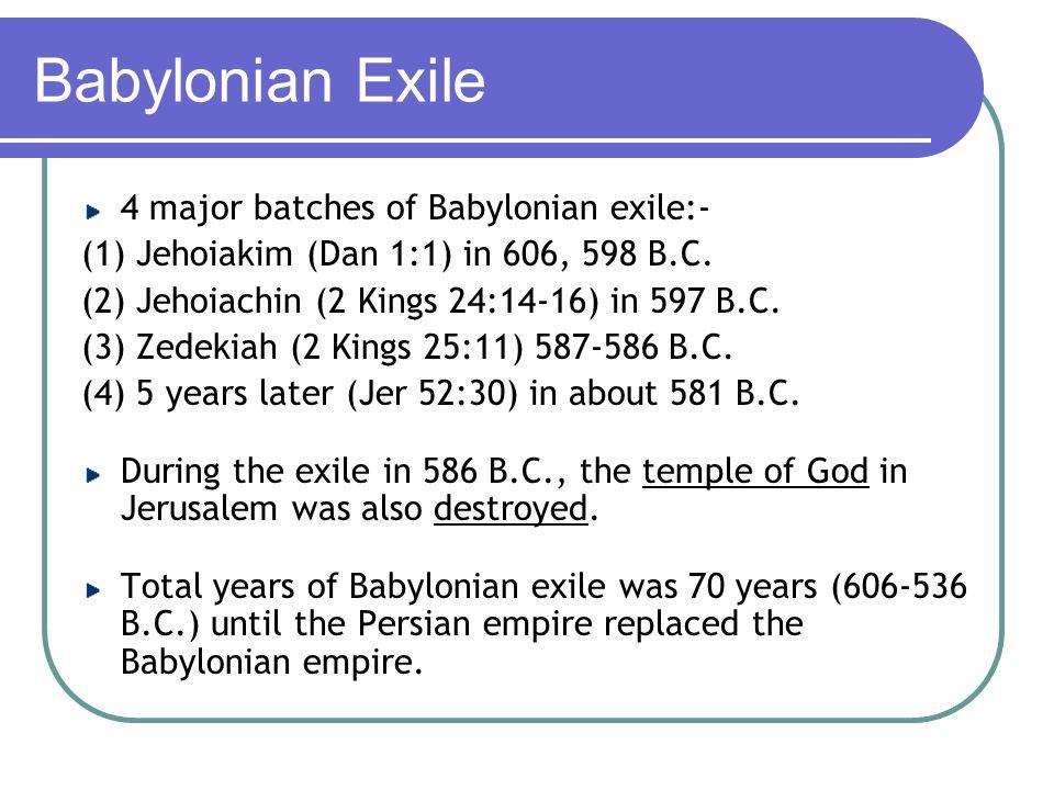 Judah - Babylonian Exile