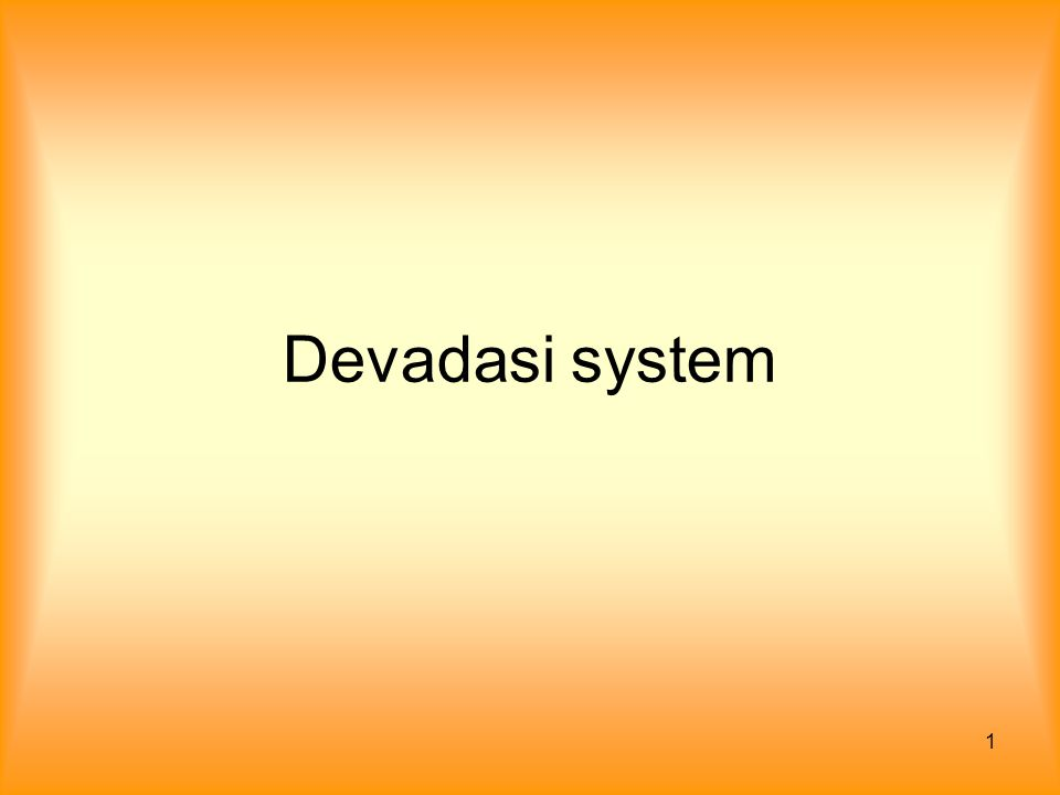 1 Devadasi system