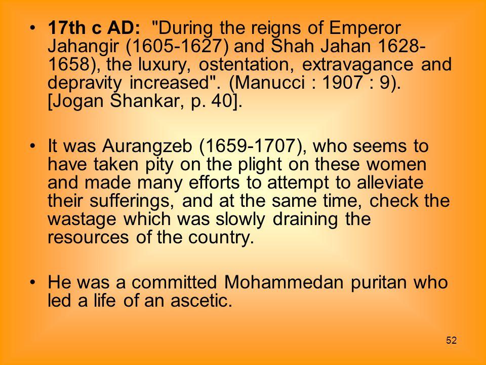 52 17th c AD: