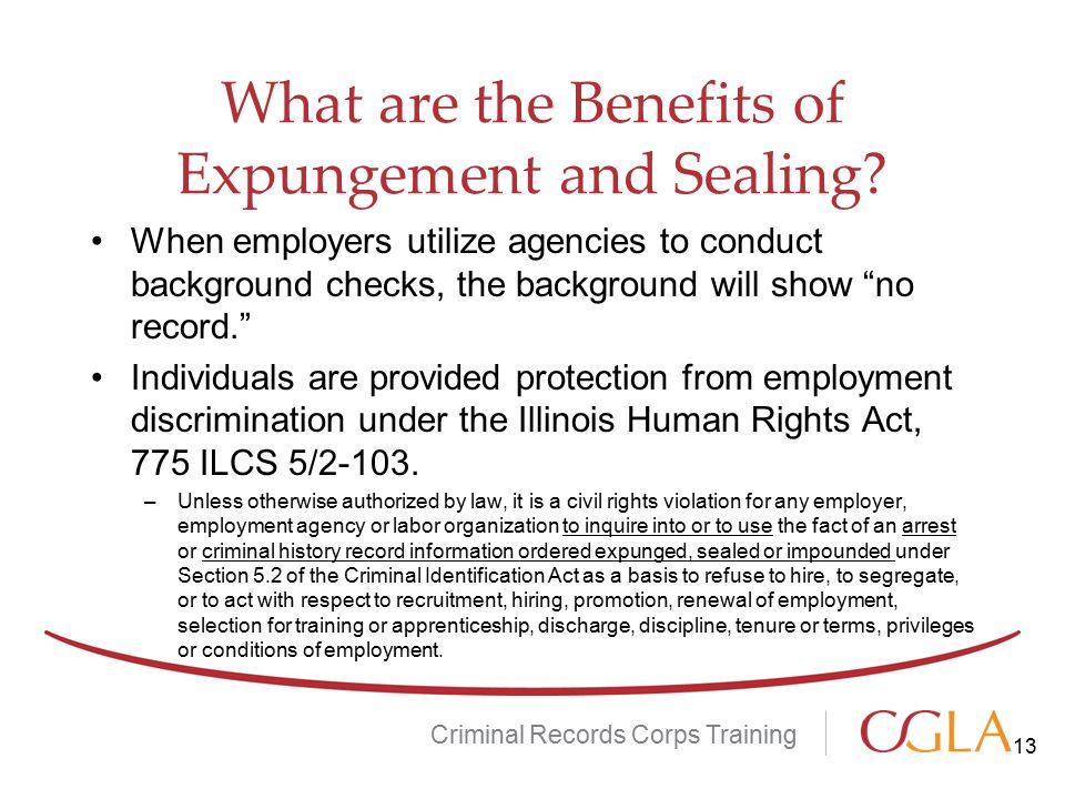 What are the Benefits of Expungement and Sealing.