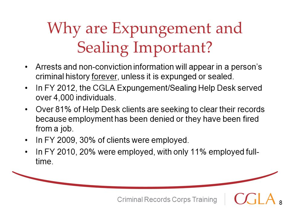 Why are Expungement and Sealing Important.