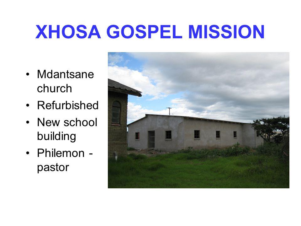 Mdantsane church Refurbished New school building Philemon - pastor