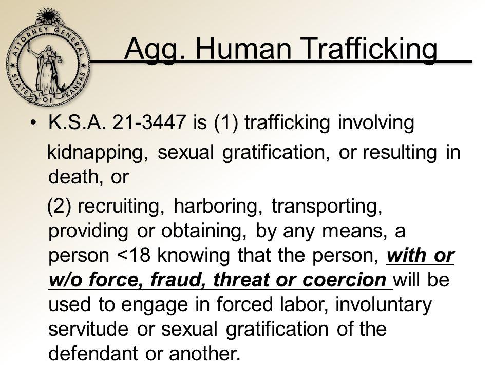 Agg. Human Trafficking K.S.A.
