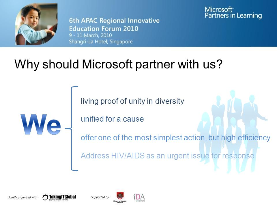 Why should Microsoft partner with us.