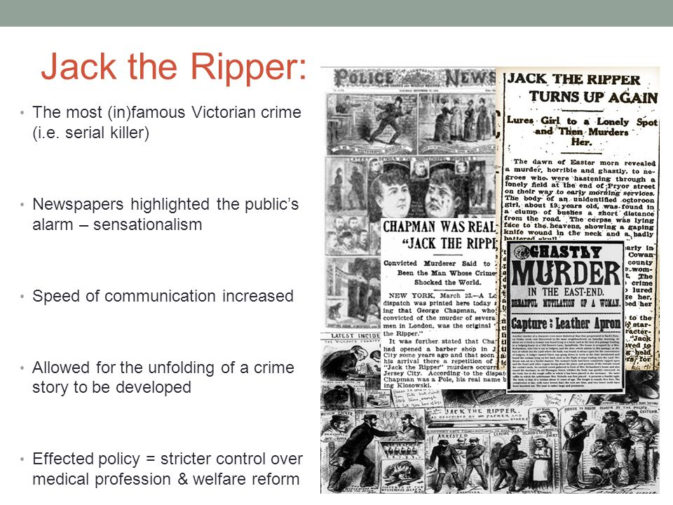 Jack the Ripper: The most (in)famous Victorian crime (i.e.