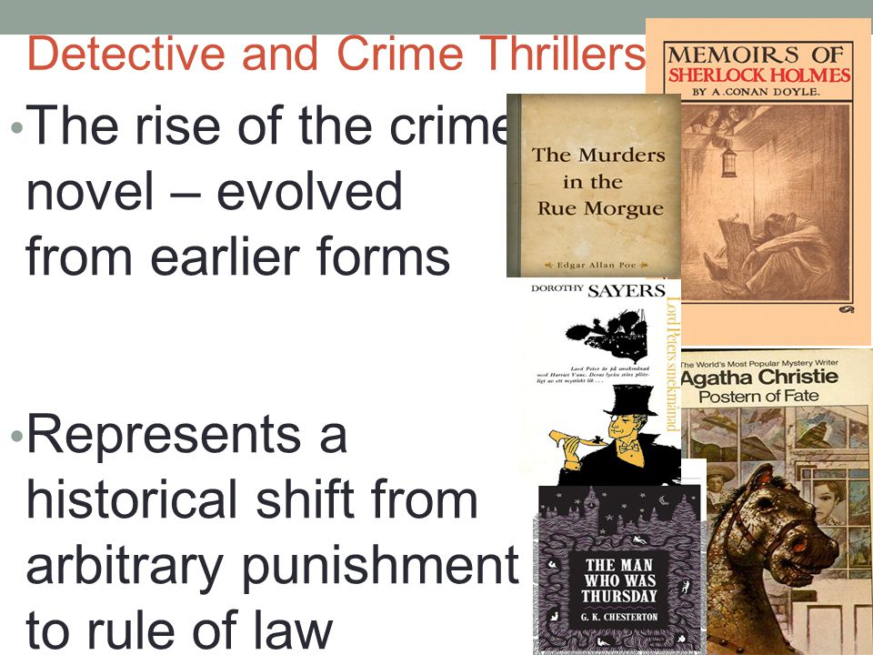 Hard Boiled Detective Fiction, Magazines and dime novels Most popular 19thC US print media Public concern & attack Bleak & cynical Wealth, power & status are key elements in the context of the city The competent, 'heroic' & rule bending detective Crime originates from individual personality/moral weakness Reinforce existing social order— the status quo