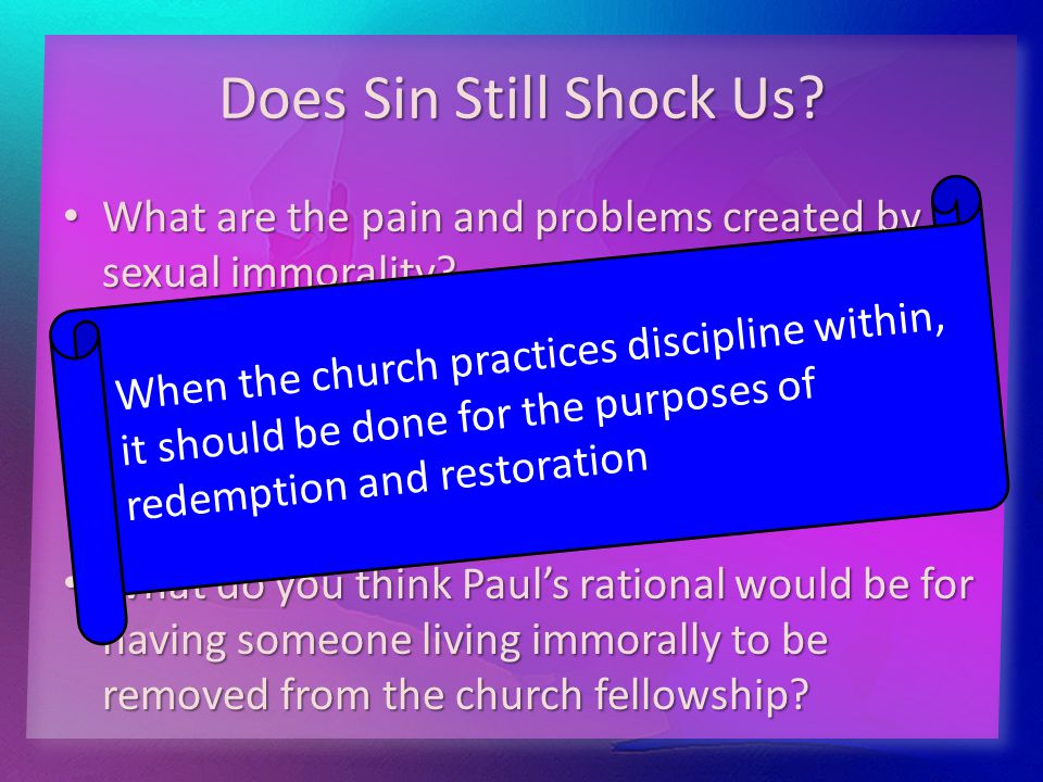 Does Sin Still Shock Us.