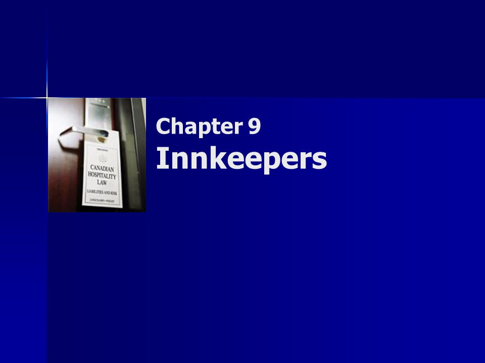Chapter 9 Innkeepers