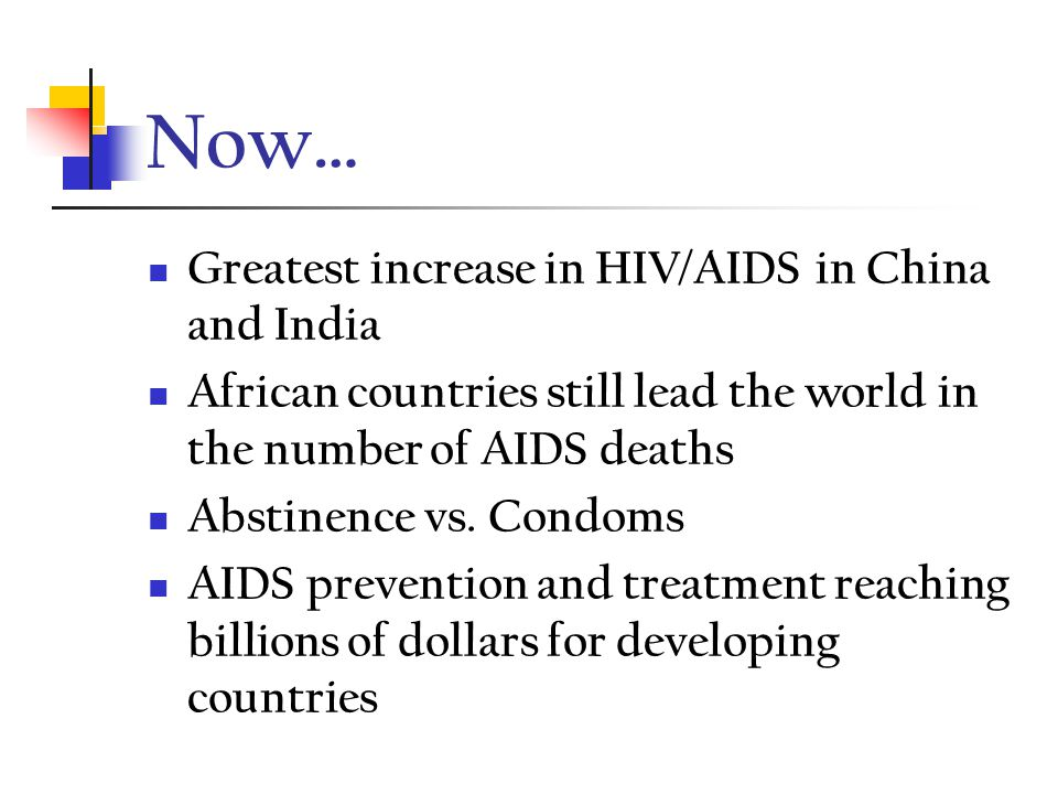 Now… CDC estimates 40,000 persons become infected with HIV each year in the U.S.