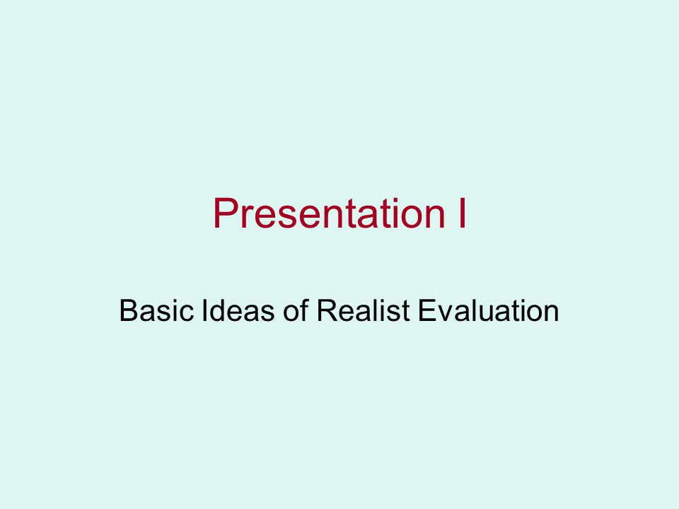 Realist Evaluation & Realist Synthesis Ray Pawson QMSS Seminar Nicosia Sept 2006