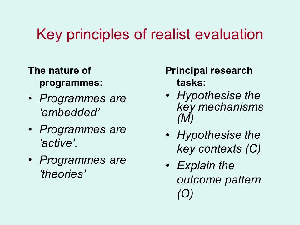 Presentation I Basic Ideas of Realist Evaluation