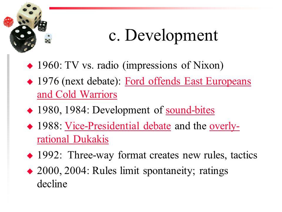 c. Development u 1960: TV vs.