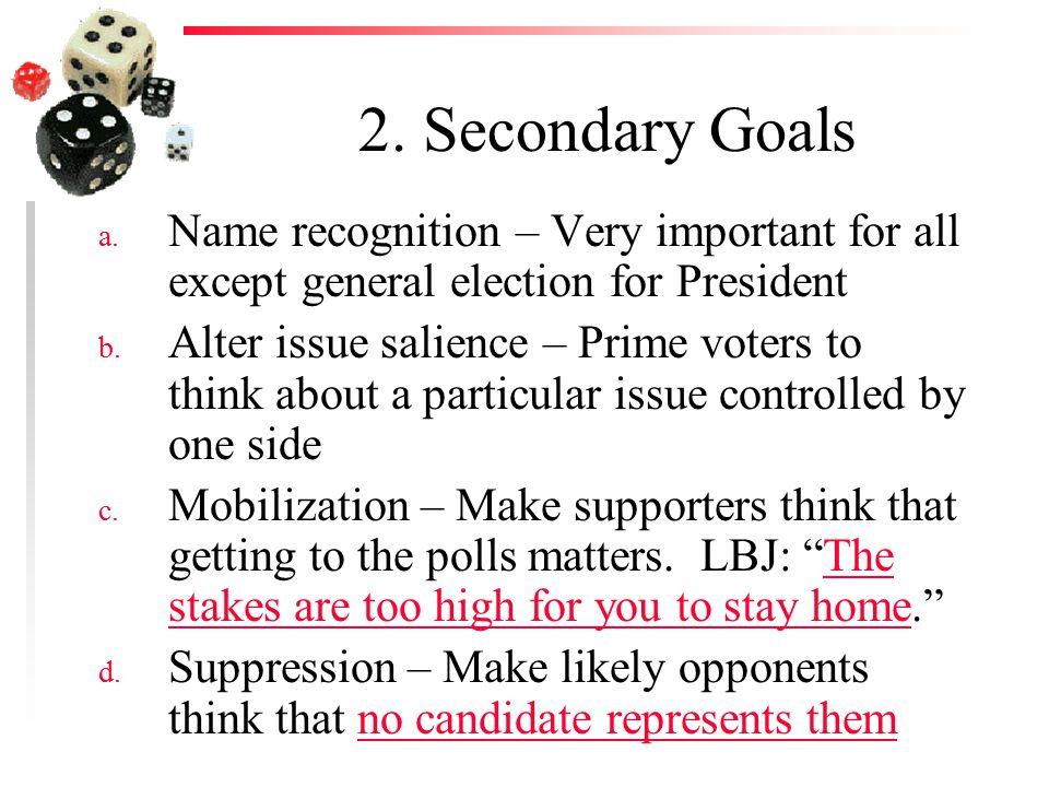 2. Secondary Goals a.
