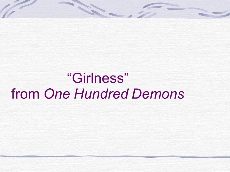 Girlness from One Hundred Demons