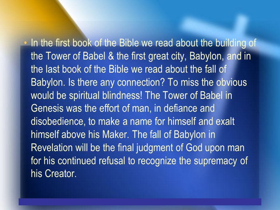 A world Power like no other… Isa 13:19 And Babylon, the beauty of kingdoms, the glory of the Chaldeans pride, Will be as when God overthrew Sodom and Gomorrah.