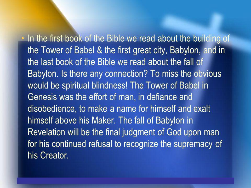 Walton, John 1995 The Mesopotamian Background of the Tower of Babel.