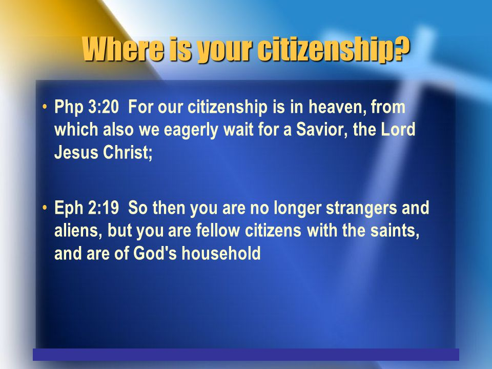 Where is your citizenship.