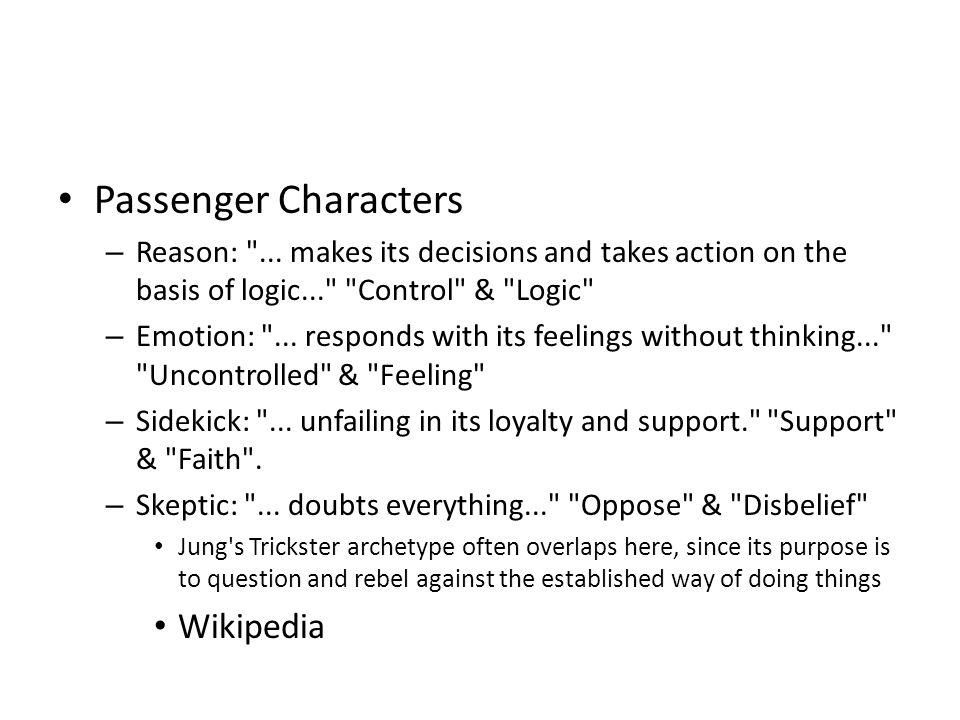 Passenger Characters – Reason: ...