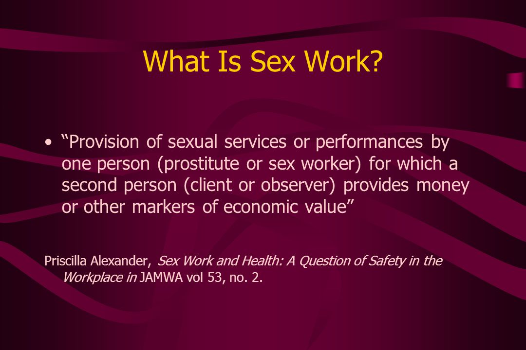 What Is Sex Work.