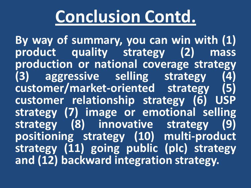 Conclusion Contd.