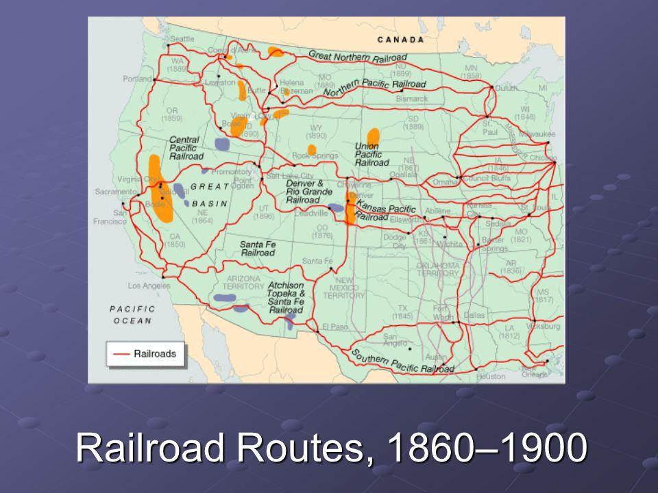 Railroad Routes, 1860–1900