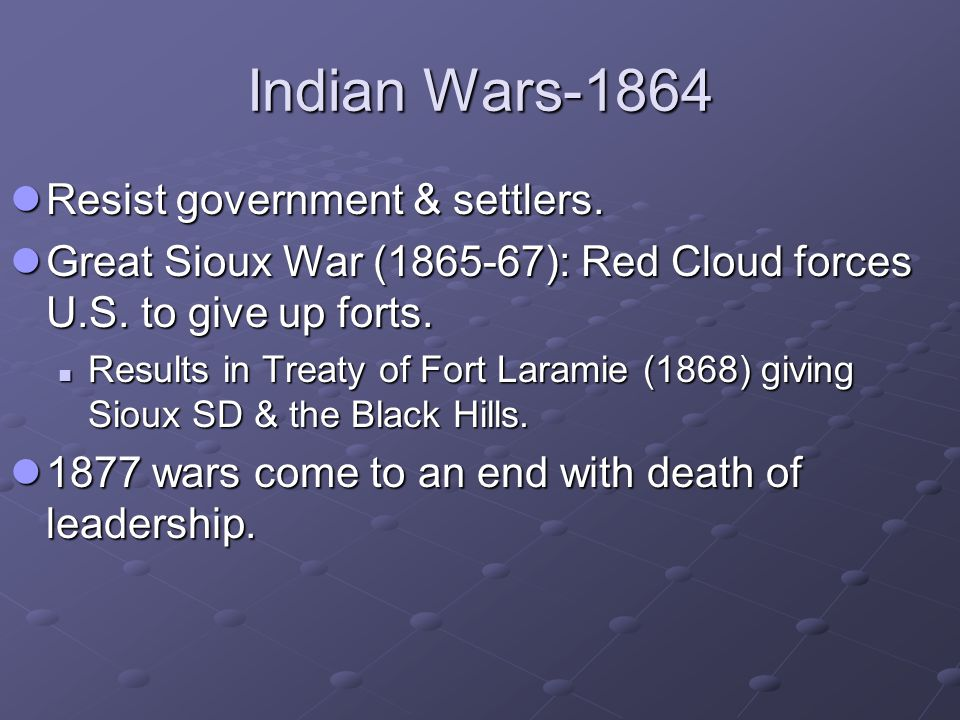 Major Indian Battles and Indian Reservations, 1860–1900