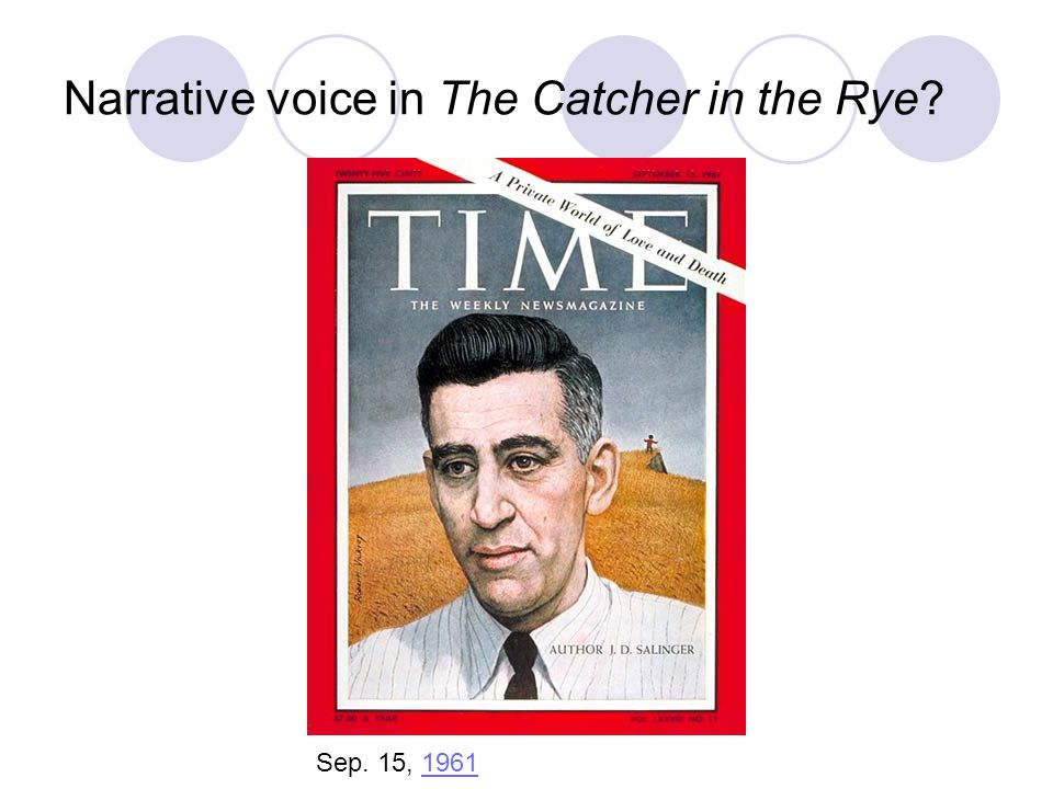 Narrative voice in The Catcher in the Rye? Sep. 15, 19611961