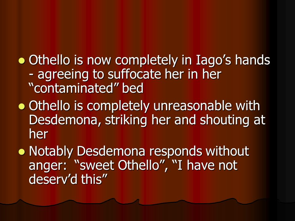 Lodovico says that this would not be believed in Venice Lodovico says that this would not be believed in Venice Look at Othello's speech in lines 250-261.