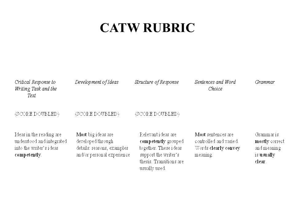 CATW RUBRIC